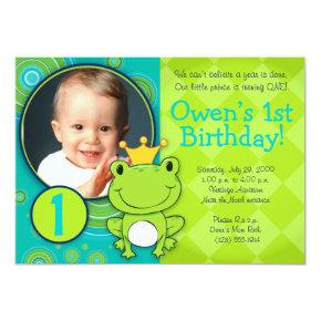 Frog Prince Birthday Invitation