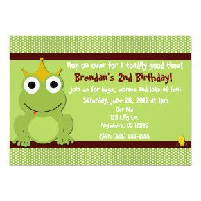 Frog Prince Boys Birthday Invitations