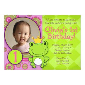 Frog Princess Birthday Invitation