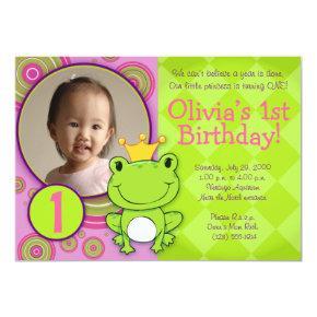 Frog Princess Birthday Invitation