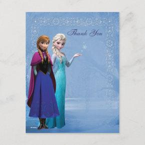 Frozen Anna and Elsa Snowflake Thank You