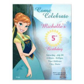 Frozen Anna Birthday Party Invitation