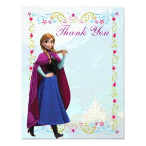 Frozen Anna Thank You Card