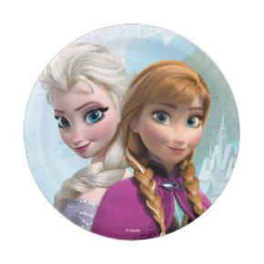 Frozen Elsa and Anna Birthday Paper Plate