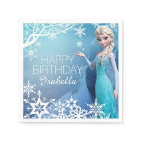 Frozen Elsa Birthday Paper Napkins
