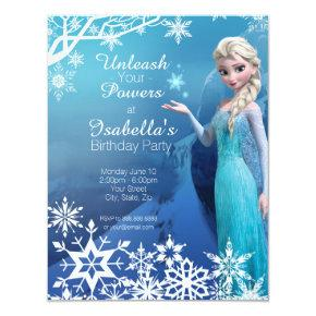 Frozen Elsa Birthday Party Invitations