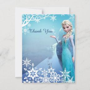 Frozen Elsa Birthday Party Thank You