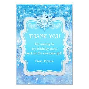 Frozen Ice Winter Wonderland Party Thank You Card