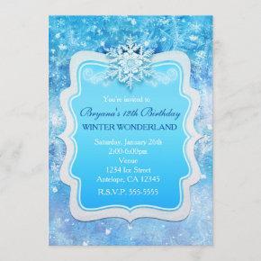 Frozen Ice Winter Wonderland Snowflake