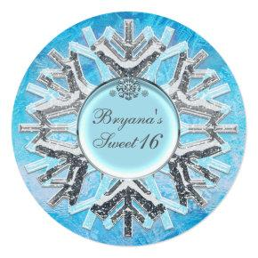 Frozen Ice Winter Wonderland Sweet 16