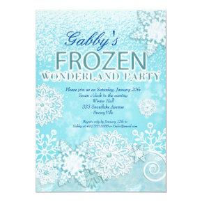 Frozen Invitation, Winter Invitation, Snowy Invite