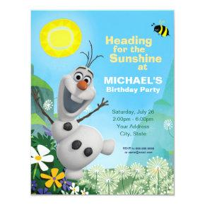 Frozen Olaf | Summer Birthday Party Invitations