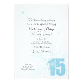 FROZEN quinceanera WINTER SNOWFLAKE invitation