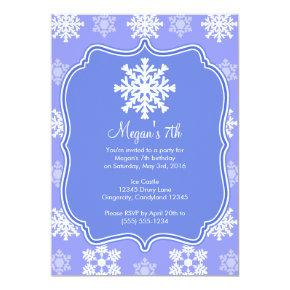 Frozen Snowflake Winter Snowman Birthday Card