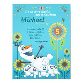 Frozen Summer Olaf Birthday Party Invitations