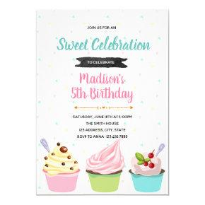 Frozen Yogurt party invitation