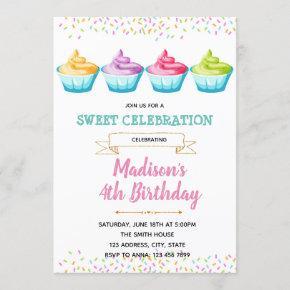Frozen yogurt party invitation