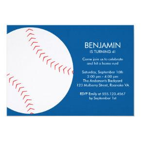 Fun Baseball Themed Birthday Invitations