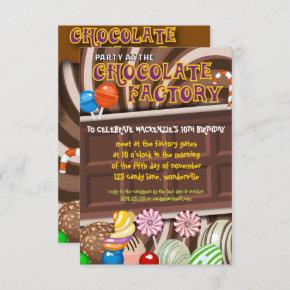 Fun Chocolate Candyland Party Invitation