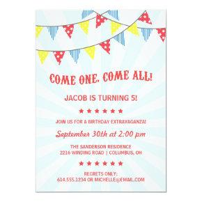 Fun Circus Birthday Party Invitations