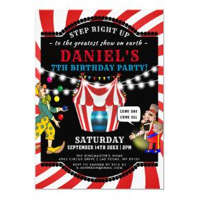 Fun Circus Children's | Carnival Birthday Invitation