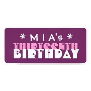 Fun Custom 13th Birthday Party Purple T01V Invitation