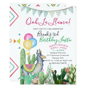 Fun & Funky Llama Party Invitation