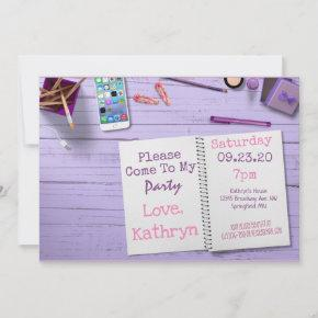 Fun & Trendy Birthday Invitation