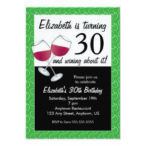 Funny 30th Birthday Wine Party Invitation