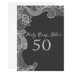 Funny, 50th Birthday Party Invitations