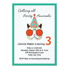 Funny Birthday Party Animal - All Ages Invitations