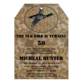 Funny Duck Bird Hunter Hunting Birthday Party Invitations