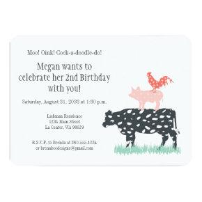 Funny Farm Birthday Party Invitations