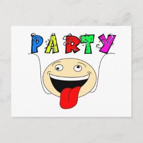 Funny happy party invitation post