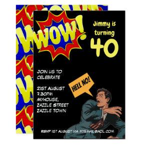 FUNNY Over the Hill Birthday Invites - ANY AGE MAN