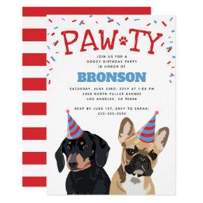 Funny Puppy Dog Birthday Party Card