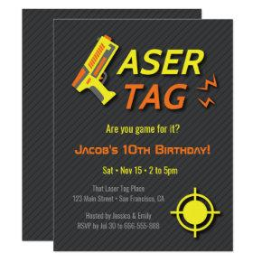 Game For Laser Tag Kids Birthday Party