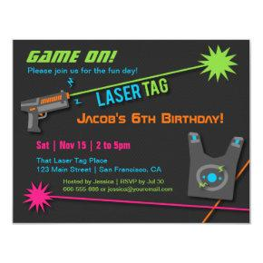 Game On Laser Tag Birthday Party