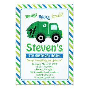 Garbage Truck Invitations / Garbage Truck Invite