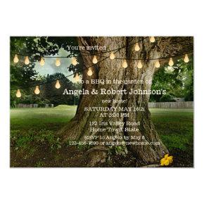 Garden New Home BBQ Housewarming Party Invitations
