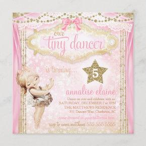 GC Magical Vintage Tiny Dancer Ballerina Invitation