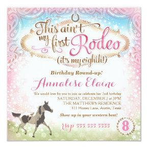 GC This Ain't My First Rodeo 8th Birthday Card