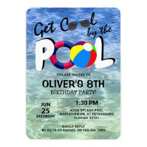 Get Cool By The Pool | Kids Birthday Invitation