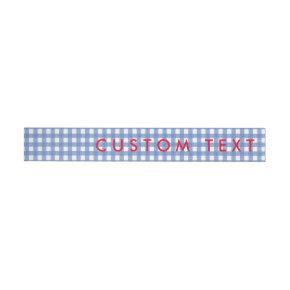 Gingham Blue & White Oz Wrap Around Invite Labels