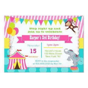 Girl Carnival Circus Birthday Party