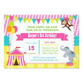 Girl Circus Carnival Birthday Party