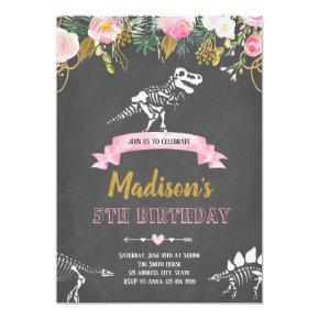 Girl dinosaur Invitations