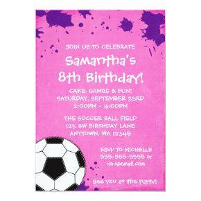 Girl Soccer Ball Birthday Party