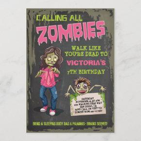 Girl Zombie Birthday Party