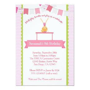 Girls Gymnastics Birthday Invitations